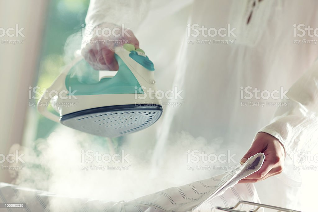 Ironing stock photo