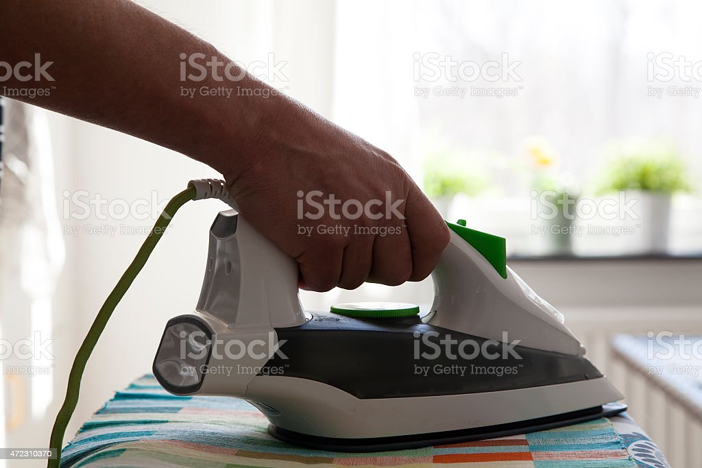 Ironing royalty-free stock photo