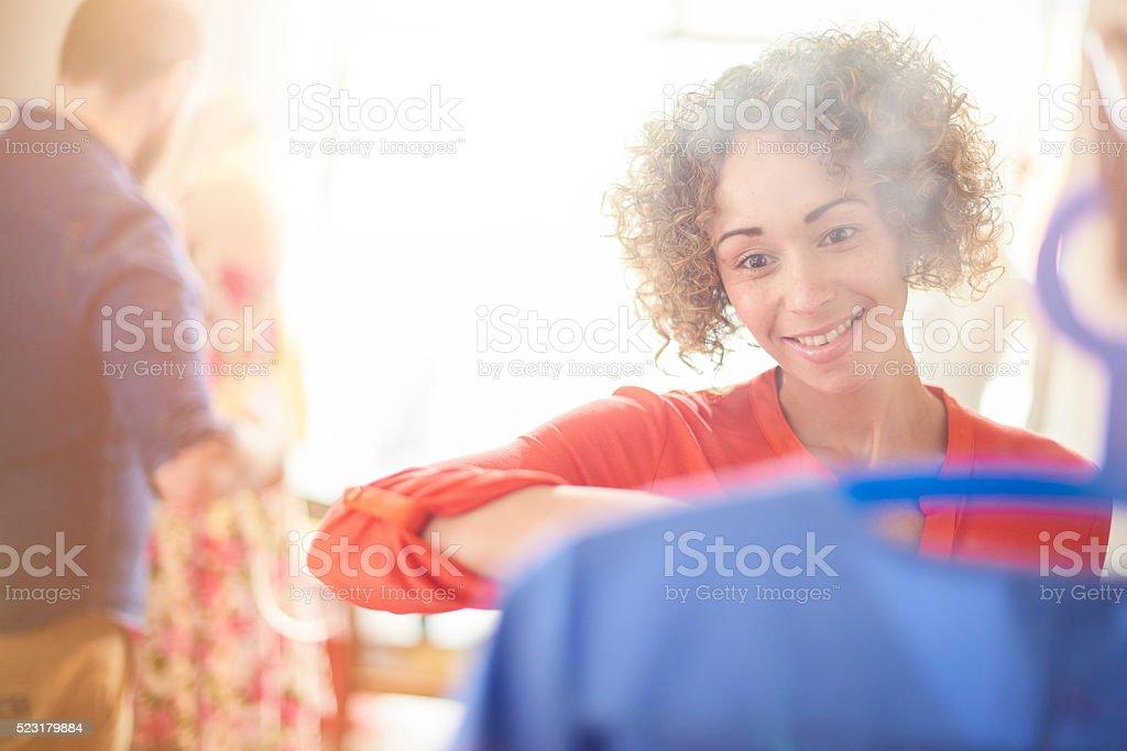 ironing service stock photo