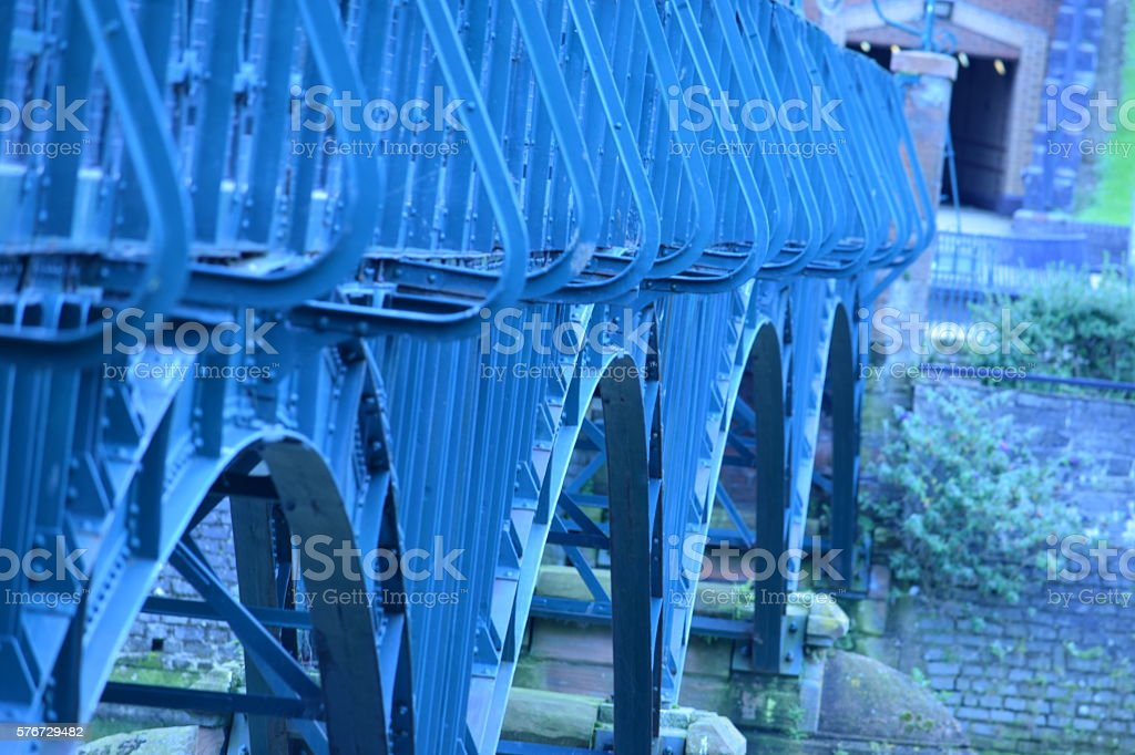 Ironwork on a bridge stock photo