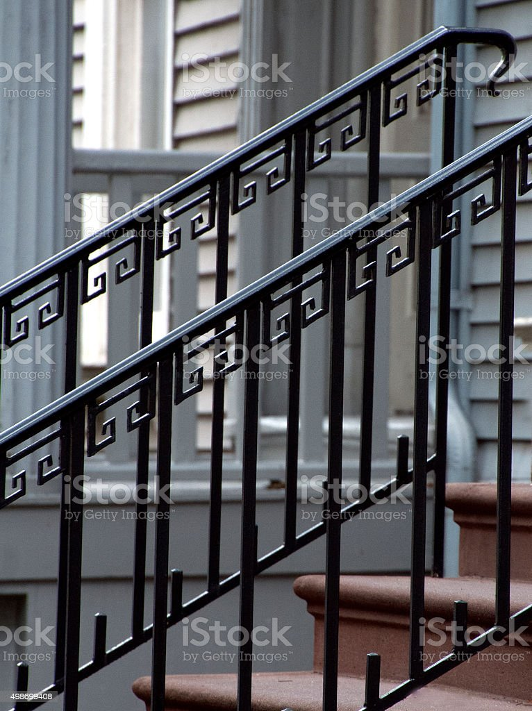 ironwork railings stock photo