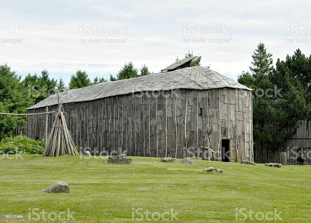 Iroquoian Village; Summer stock photo