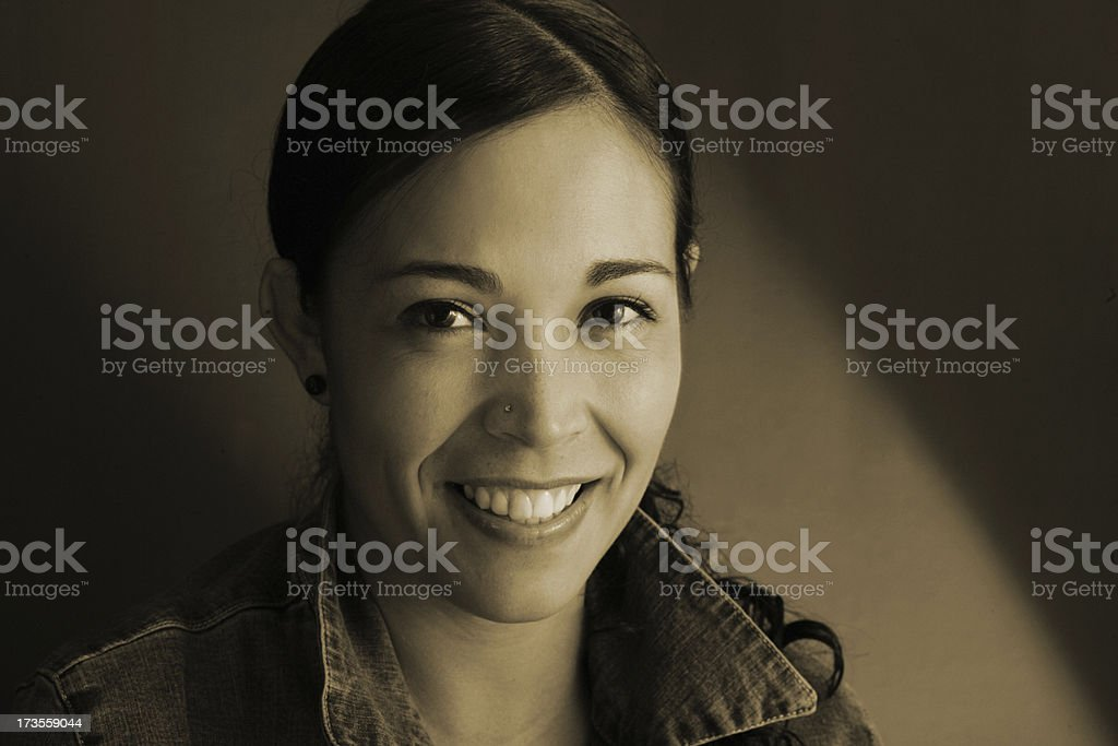 Irradiating happiness royalty-free stock photo
