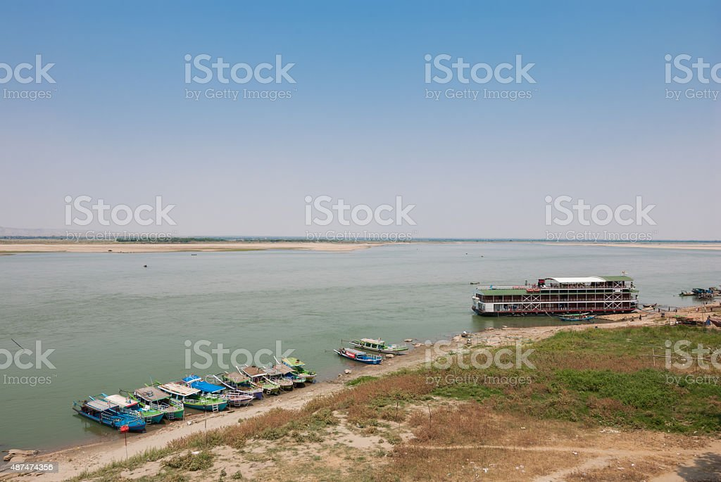 Irrawaddy river stock photo
