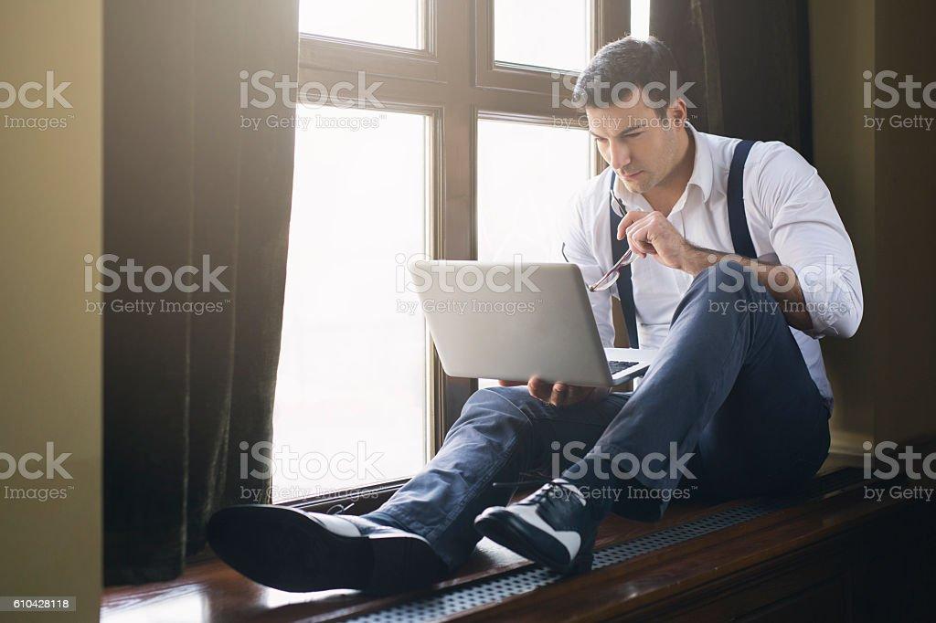 Irresistible businessman stock photo