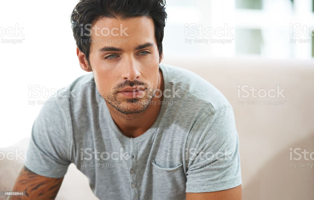 Irresistible good looks stock photo
