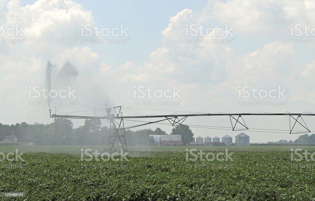 Irrigating Farmland royalty-free stock photo