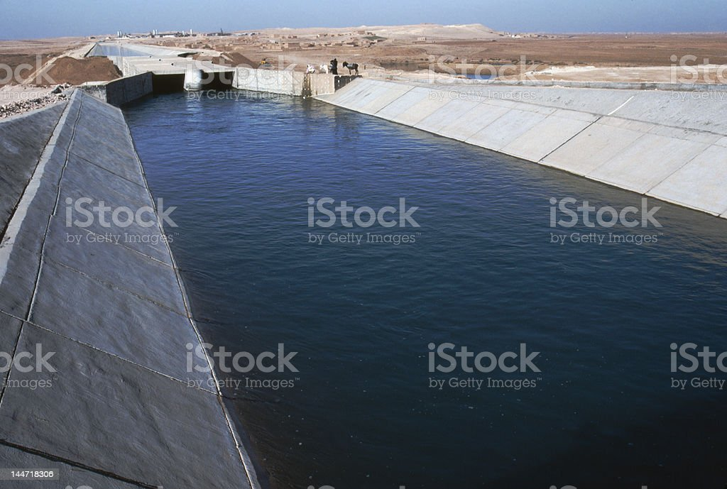 Irrigation canal northern Syria royalty-free stock photo
