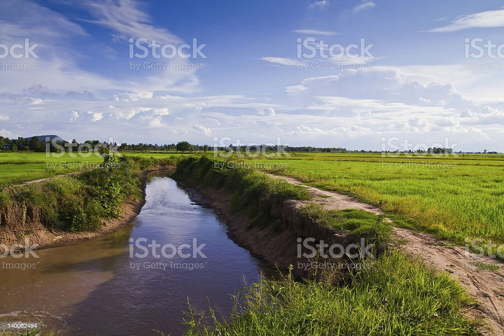 Irrigation canal royalty-free stock photo