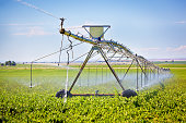 Irrigation Equipment, Agricultural Water Sprinklers Watering Farm Plants Crop Field