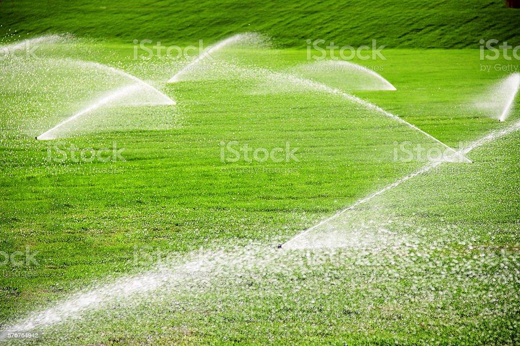 irrigation stock photo