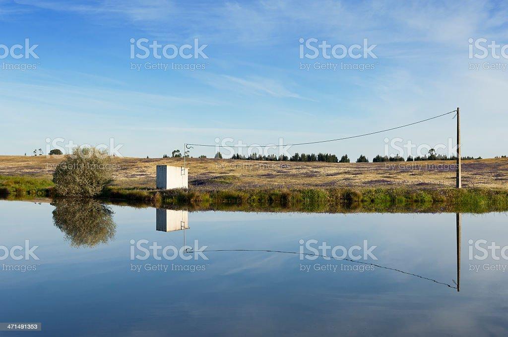 Irrigation pond royalty-free stock photo