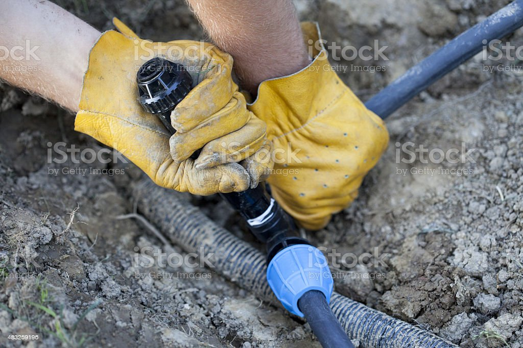Irrigation System stock photo