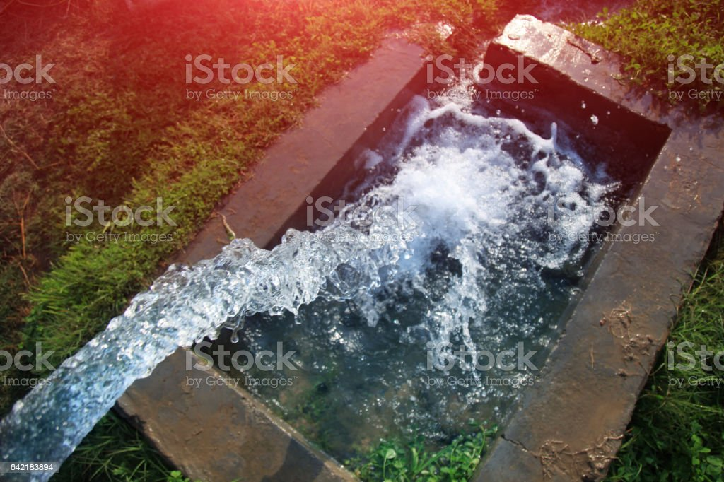 Irrigation  tube well stock photo
