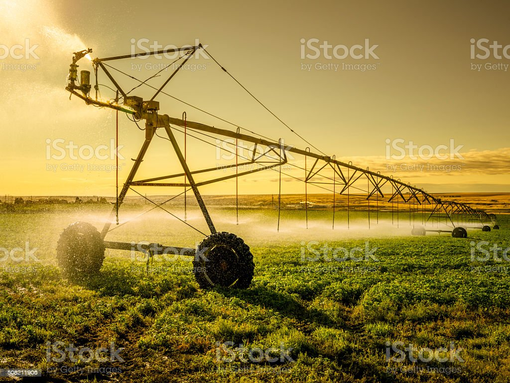 Irrigator Machine at palouse stock photo