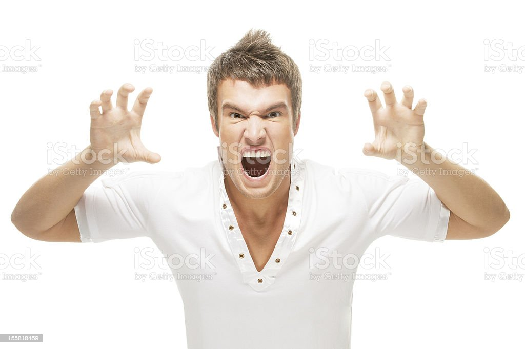 Irritated by a young man royalty-free stock photo