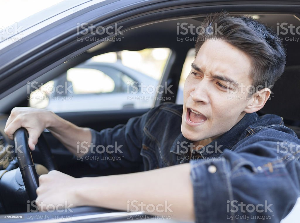 Irritated driver stock photo