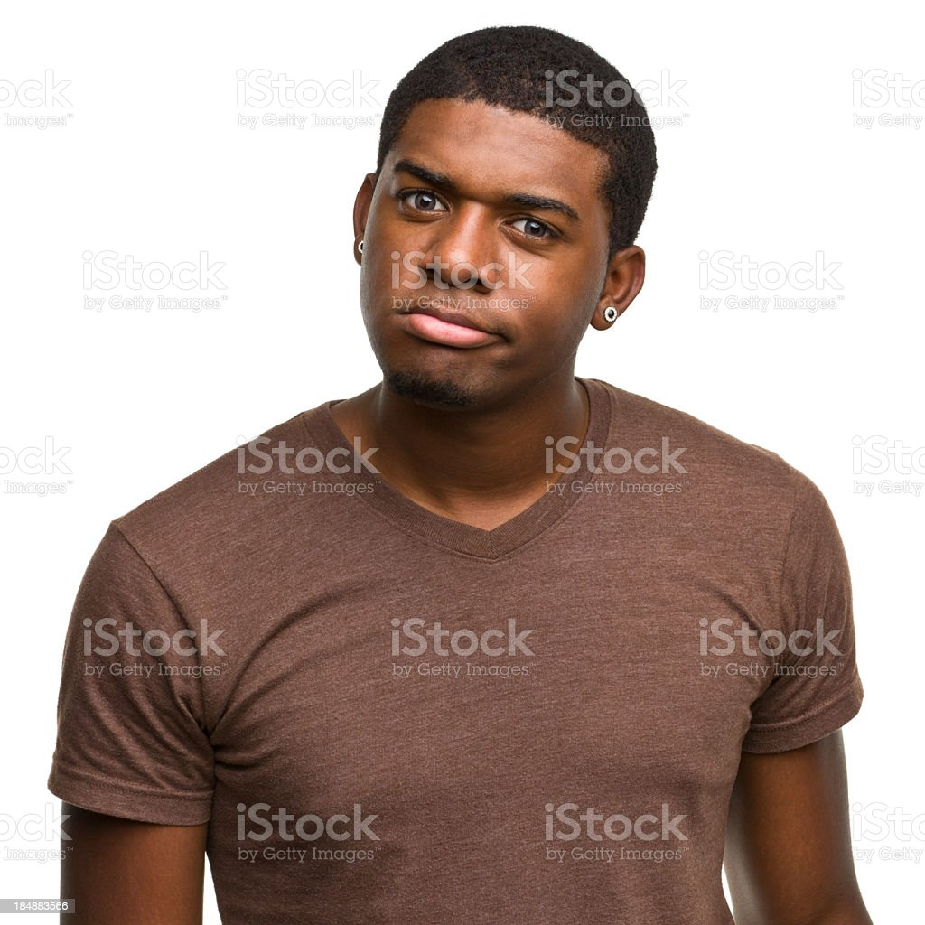 Irritated Young Man royalty-free stock photo