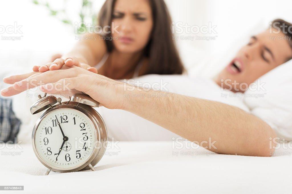 Irritating Ringing Of Alarm Clock stock photo