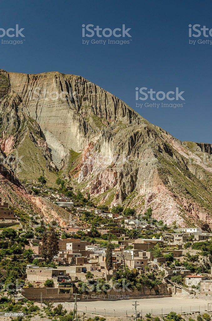 Iruya, small Andean village stock photo