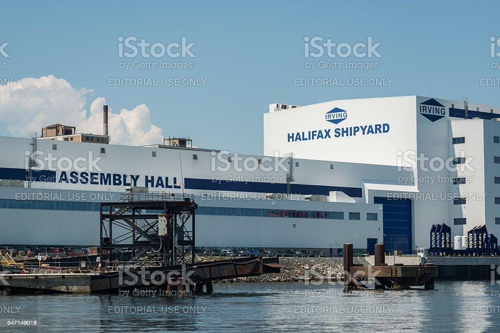Irving Halifax Shipyard stock photo