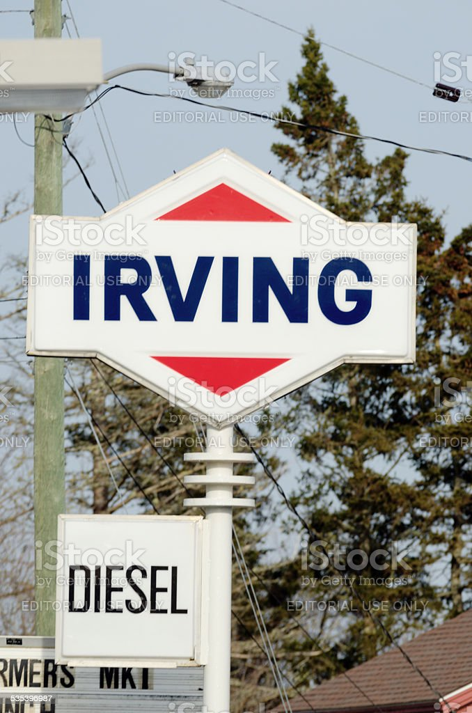Irving Oil Sign stock photo