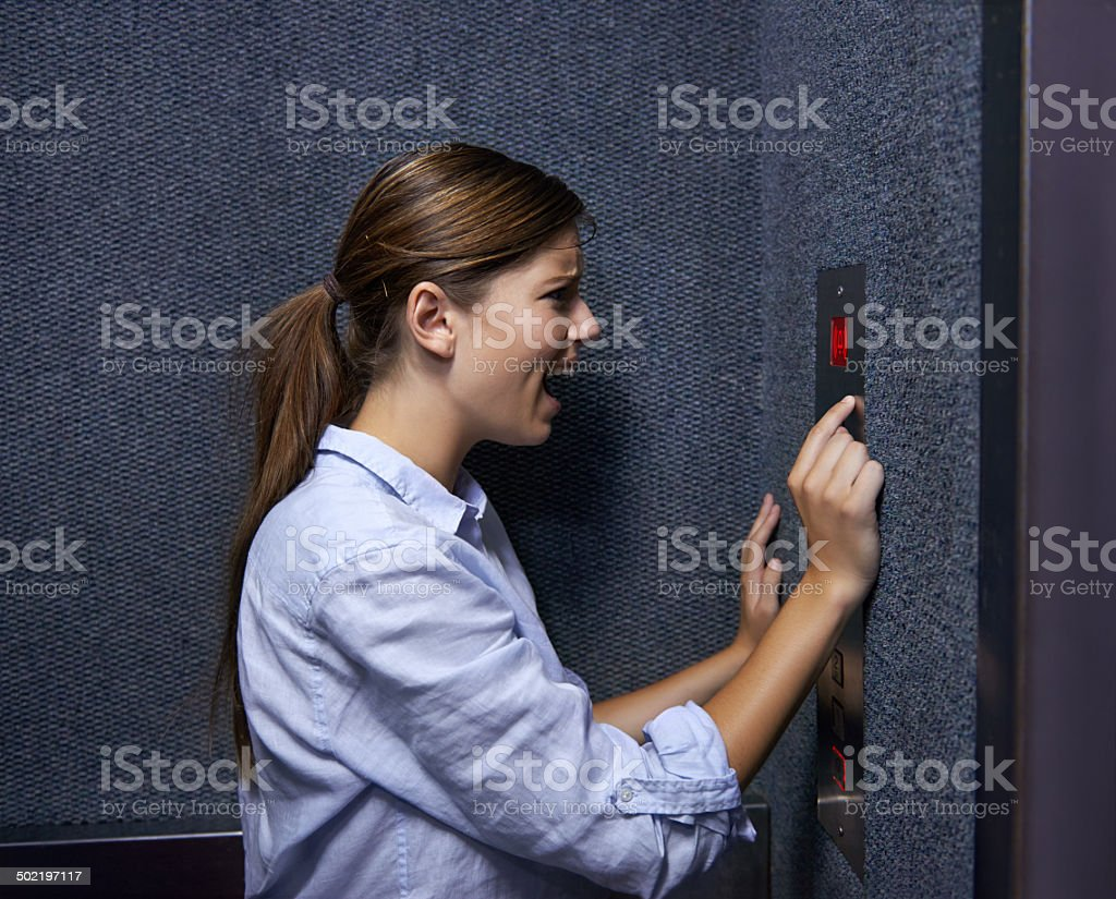 Is anyone out there?! stock photo