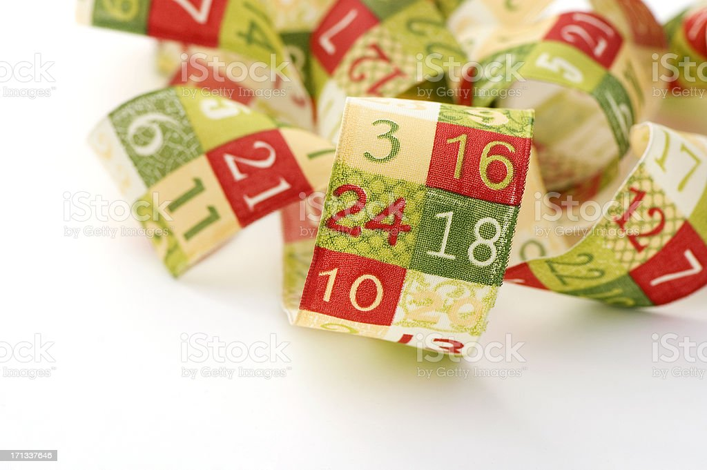 24 is for Christmas Eve. stock photo