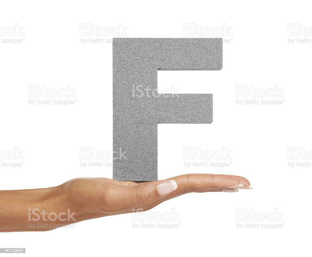 F is forever royalty-free stock photo