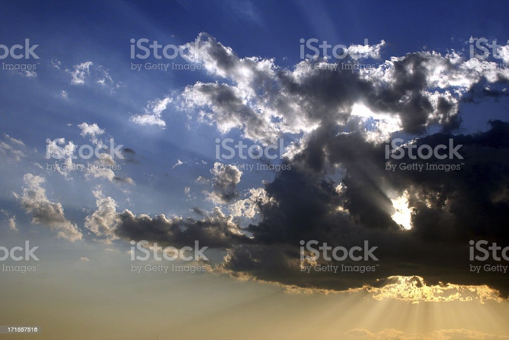 Is God behind that cloud? royalty-free stock photo
