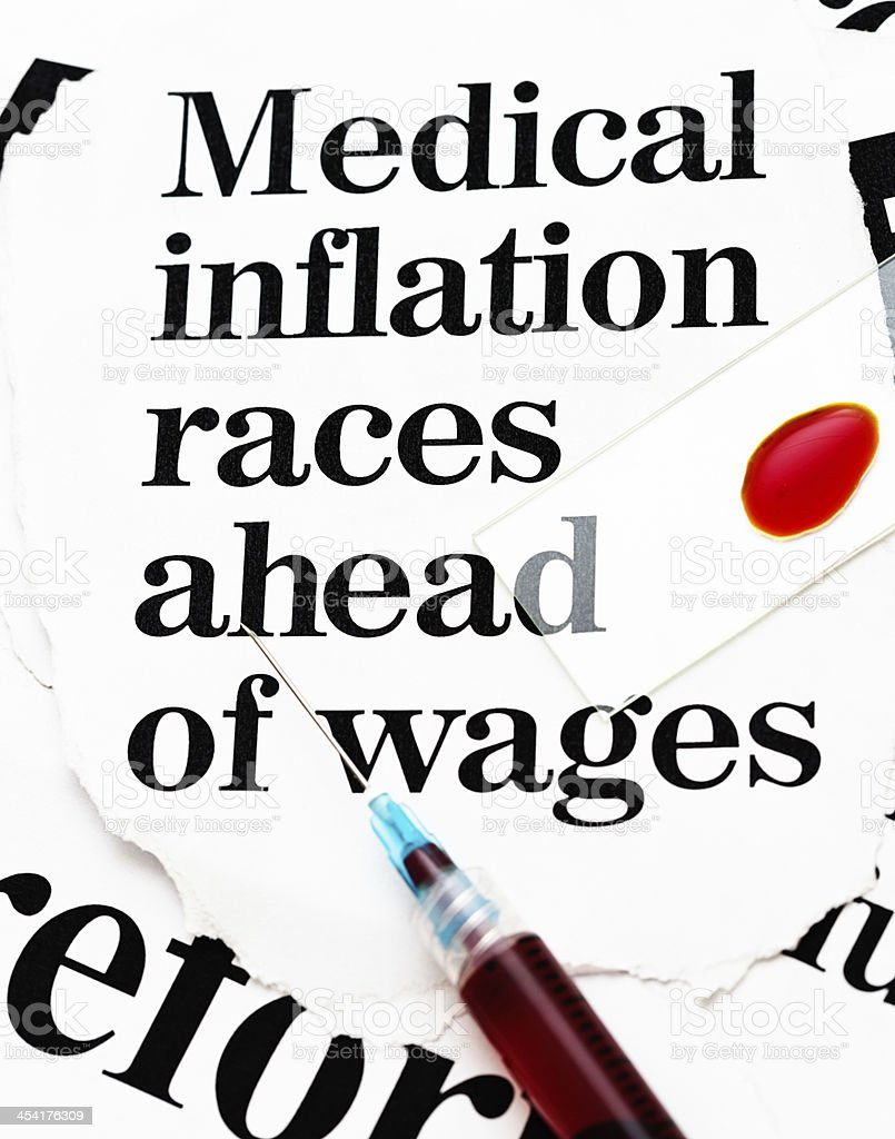 Is medical inflation bleeding you dry? royalty-free stock photo