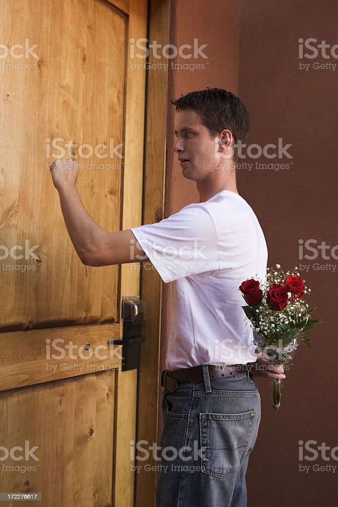 Is she gonna let me in? royalty-free stock photo