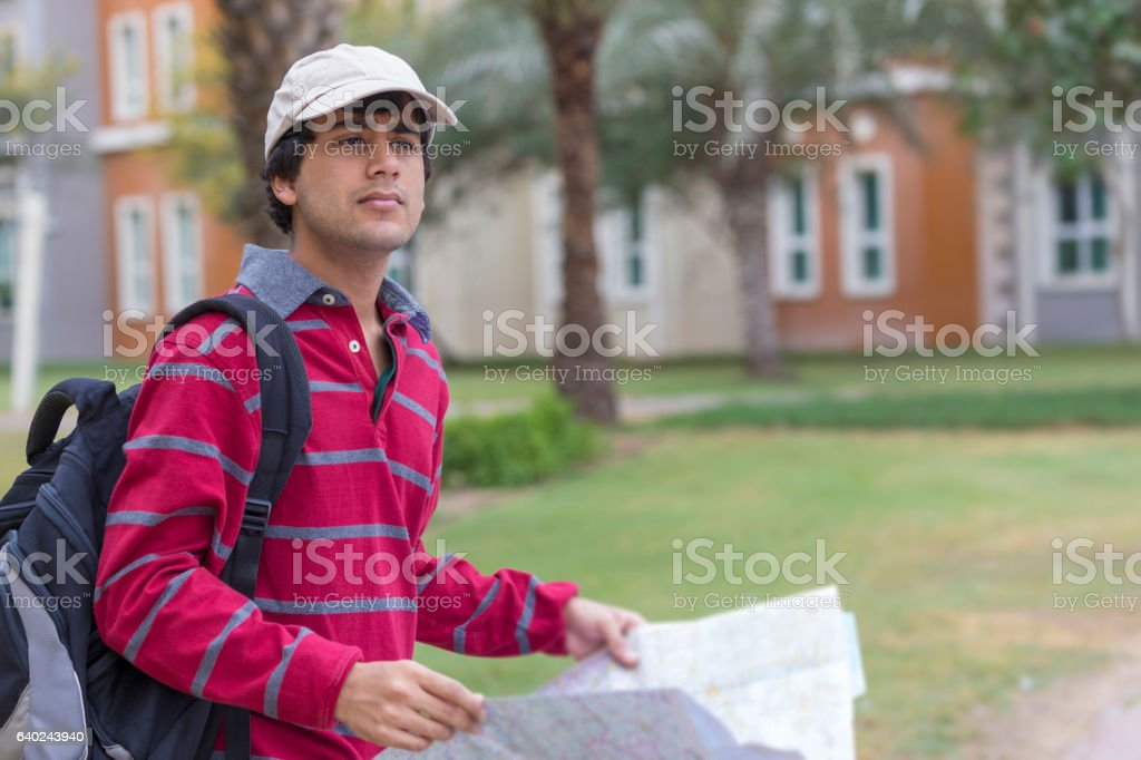 Is that the place I am looking for? stock photo