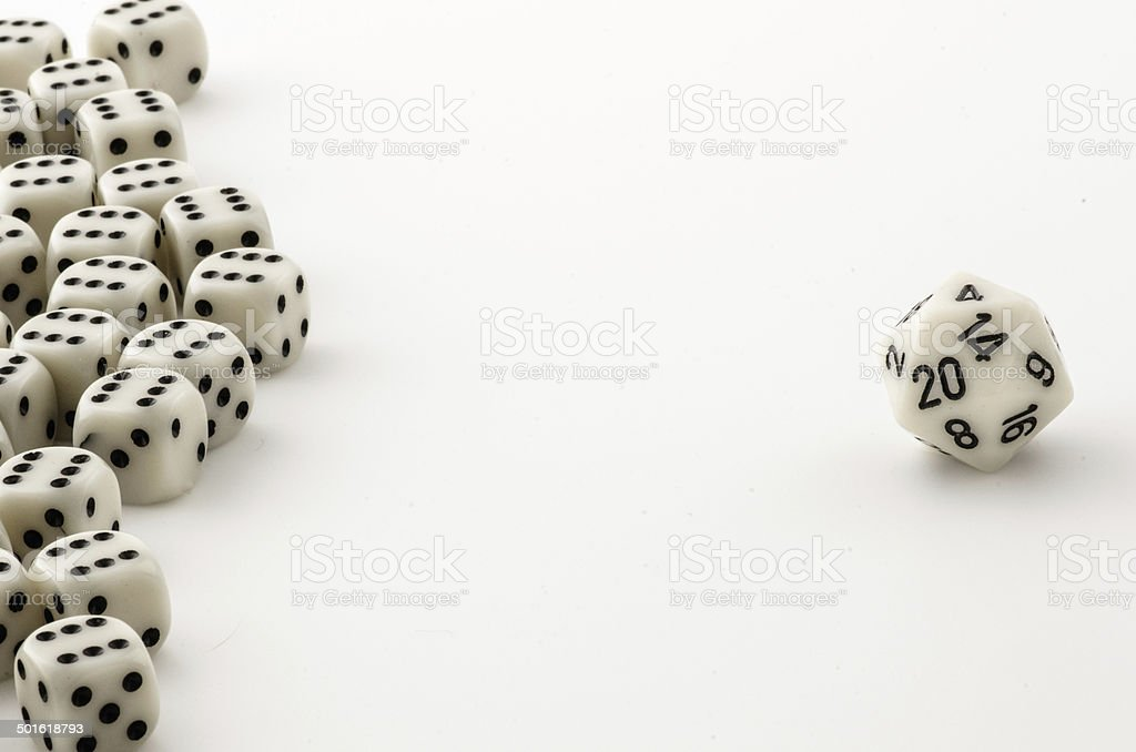 D20 is the loneliest number stock photo