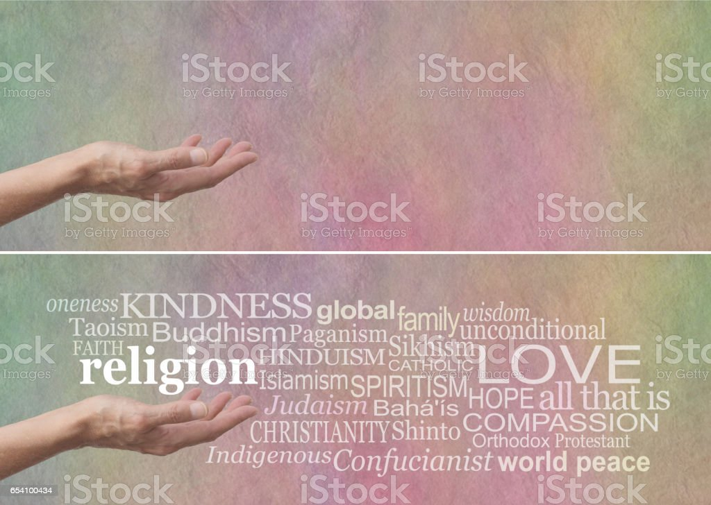 KINDNESS is the No 1 religion stock photo