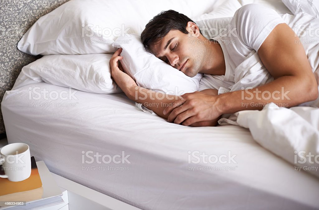 Is there anything better than a lie in? stock photo