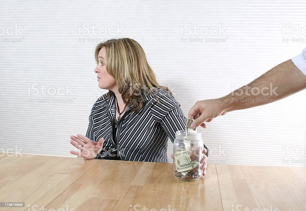 Is your money safe? stock photo