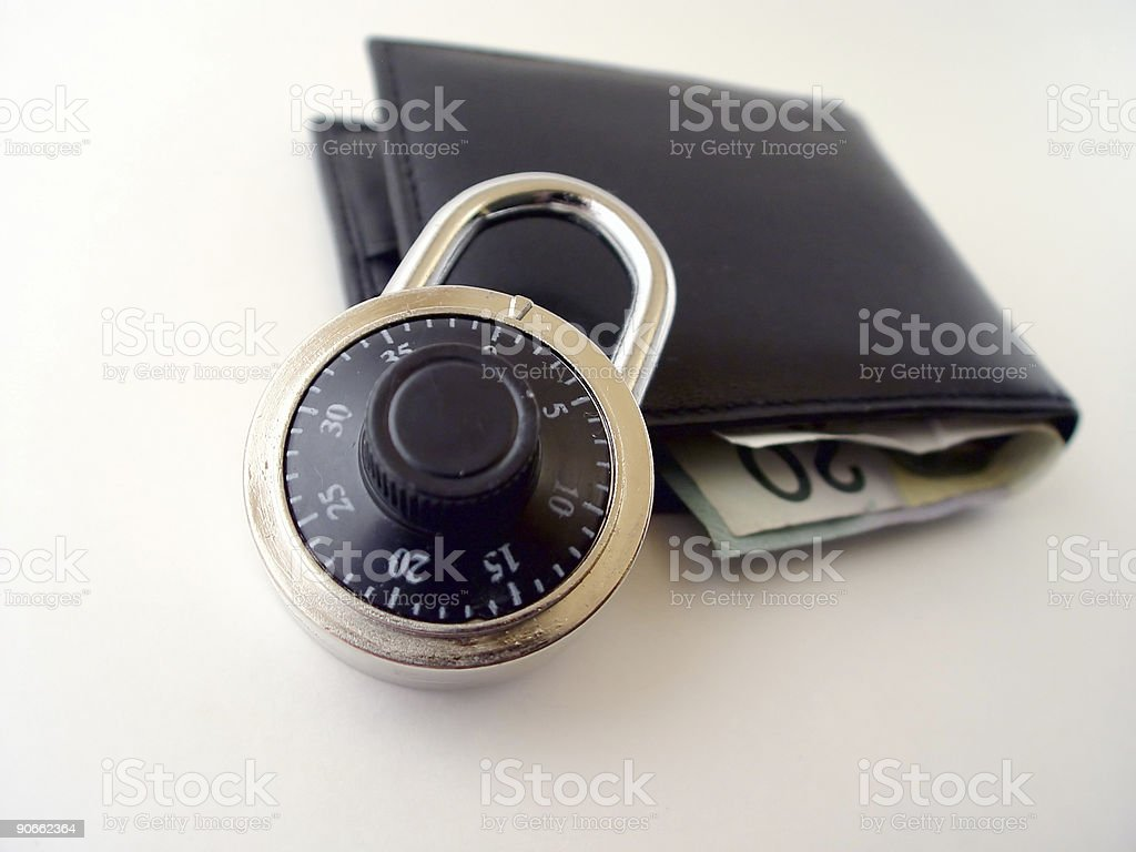 Is your Money Secure royalty-free stock photo