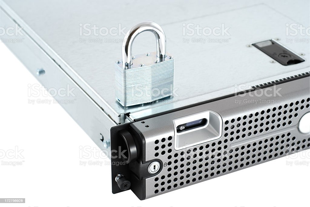 Is your server and data secure stock photo