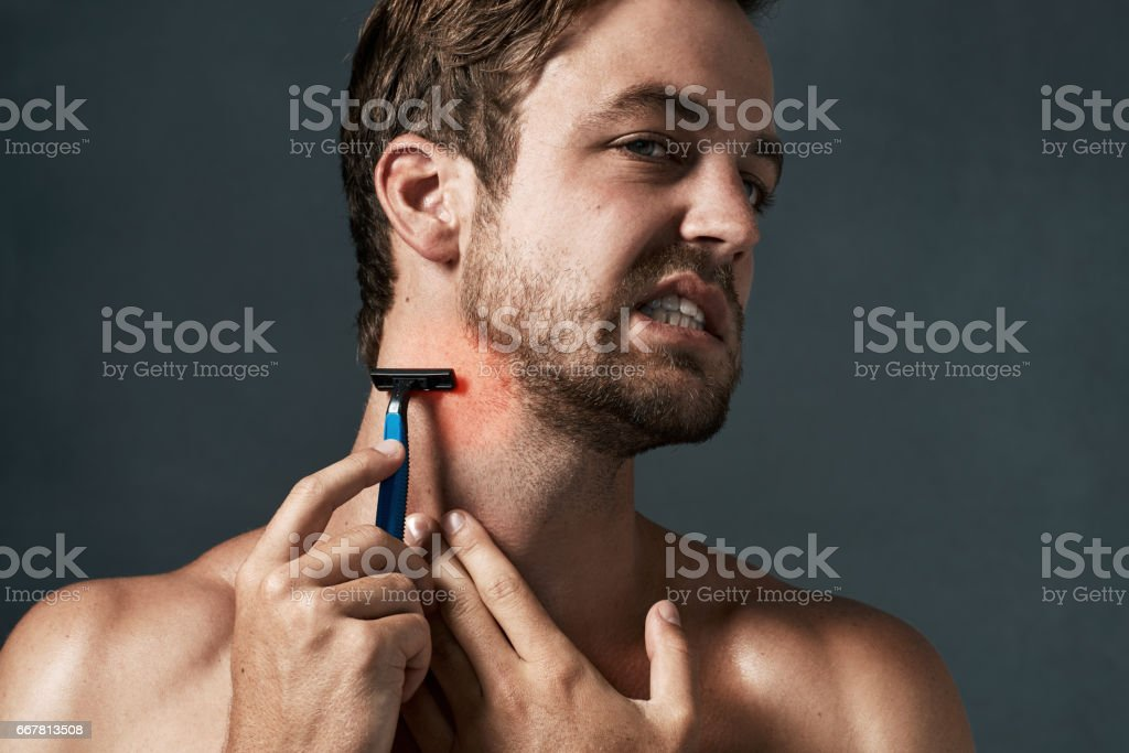 Is your shaving regimen causing your problems? stock photo