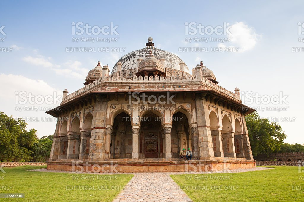 Isa Khan Niyazi's Tomb, one of the buildings of Humayun's Tomb, India stock photo