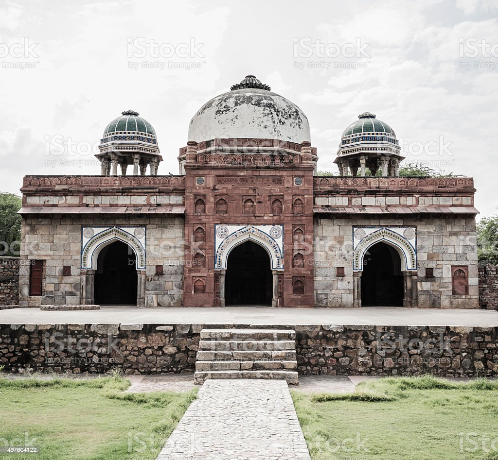 Isa Khan's mosque part of Humayun's tomb complex India stock photo