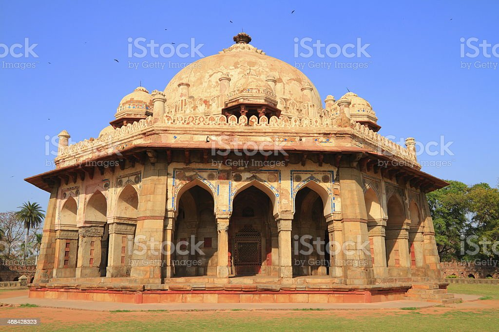 Isa Khan's tomb royalty-free stock photo