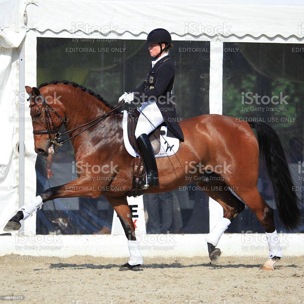 Isabell Werth at Horses & Dreams 2014 stock photo