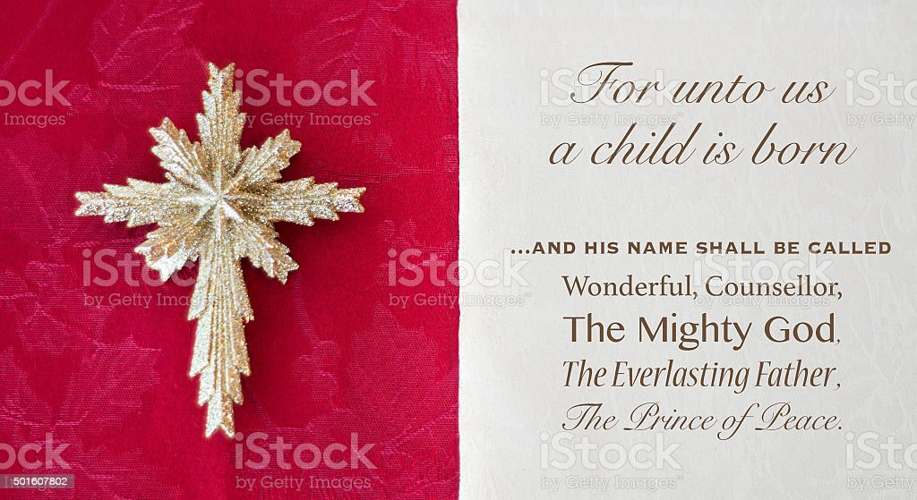 Isaiah 9 and christmas star stock photo