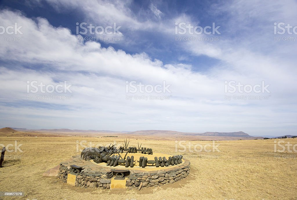 Isandlwana in KwaZulu-Natal, South Africa royalty-free stock photo