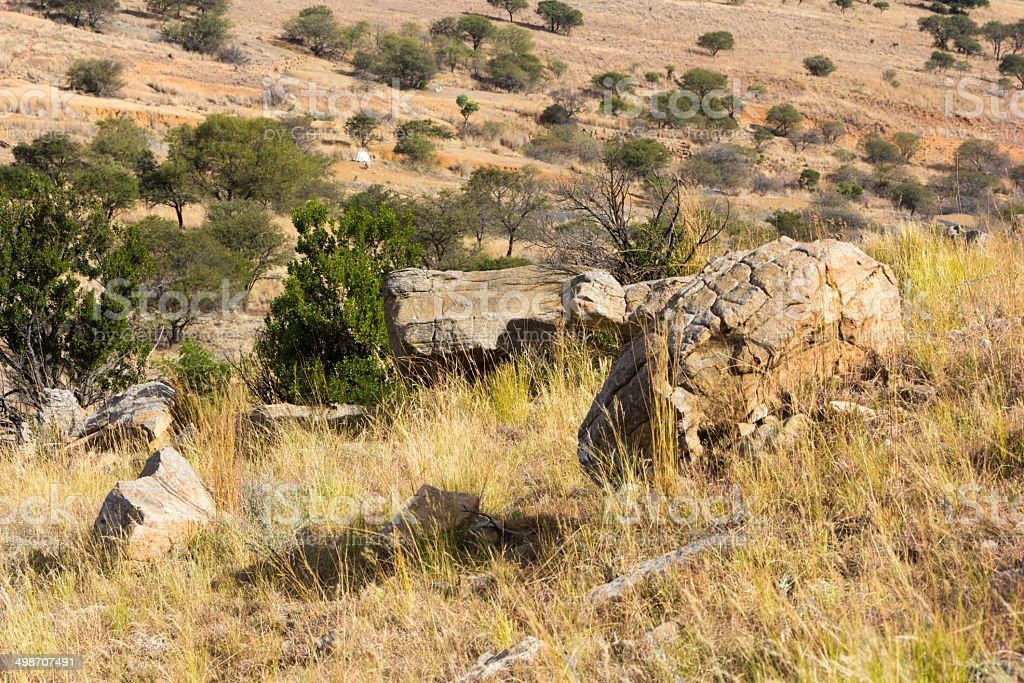 Isandlwana in KwaZulu-Natal, South Africa royalty-free stock photo