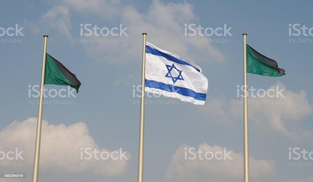Isareli Flag stock photo