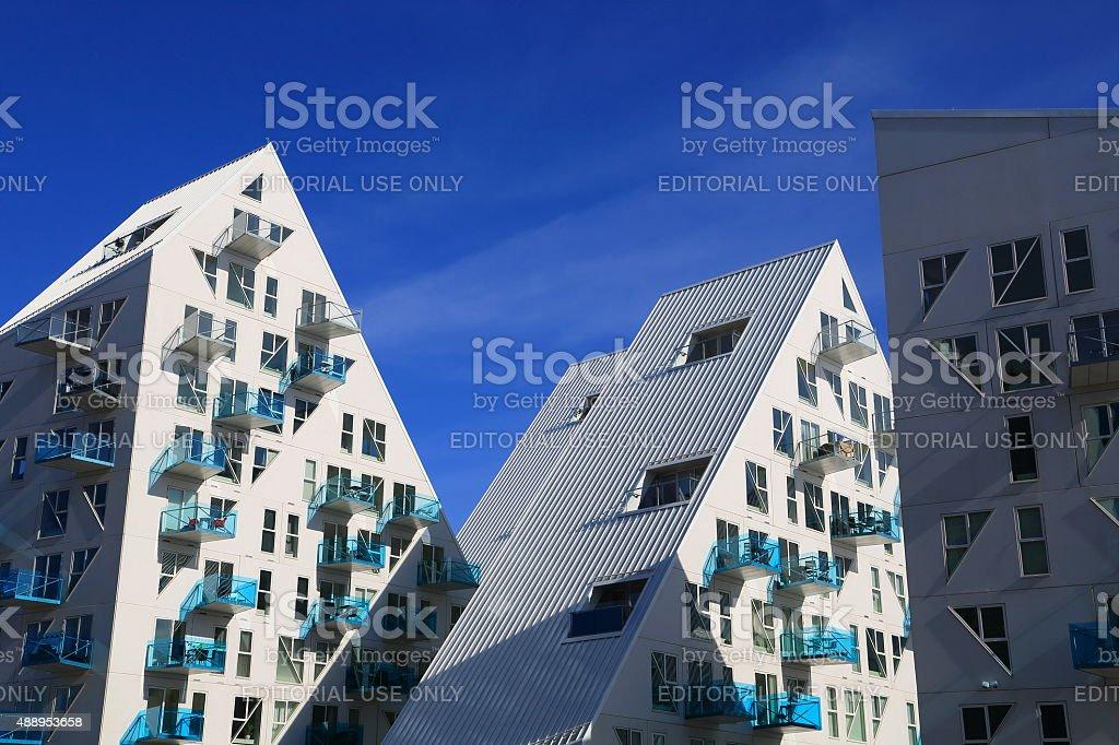 Isbjerget residental modern Housing in Aarhus, Denmark stock photo