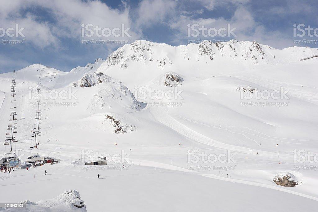 Ischgl Ski Area royalty-free stock photo